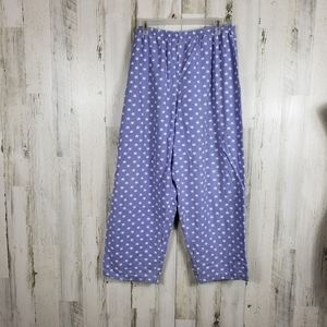 5/$25 Joe boxer purple star pajama pants size 1X
